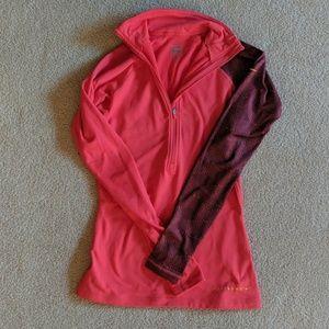 Nike Livestrong Pro half zip compression shirt